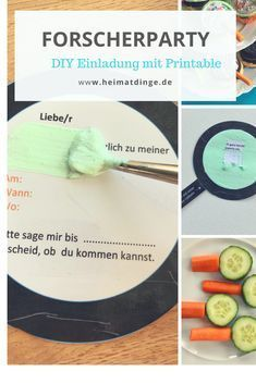Researcher Party: Simple Ideas for a Successful Researcher Kids Birthday - DIY: Kindergeburtstag - Birthday Box Ideas, Birthday Diy, Party Invitations Kids, Ideias Diy, Diy Slime, Diy Party, Ideas Party, Party Mix, Party Printables