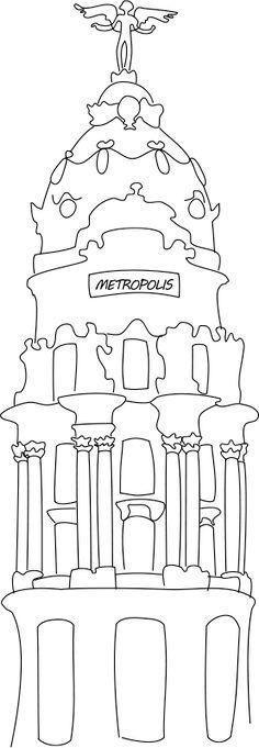 Edificio Metrópolis (Madrid) B&W
