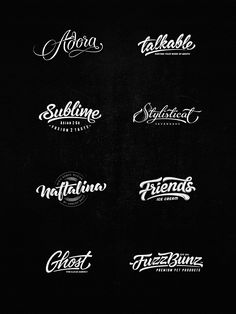Lettering Logo Designs, Vol. 4 on Behance