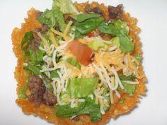 Looking for a no Carb Taco Shells? Make a cheese taco bowl - great idea = 0 carbs