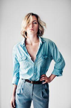 denim shirt and denim jeans