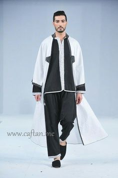 www.pinterest.com  Chic Arab Men's Attire on Pinterest | Caftans, Arab Swag and Caftan Marocain Sherwani, Kaftan Men, Arab Swag, Arab Men, Mens Attire, Mode Hijab, Normcore, Couture, Casual