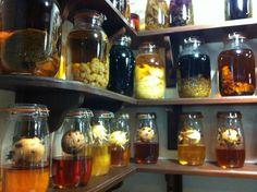 Shelf of 'rhum arrangé'
