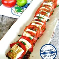 Tomato and Mozzarella Appetizer - This easy appetizer is perfect for a crowd.