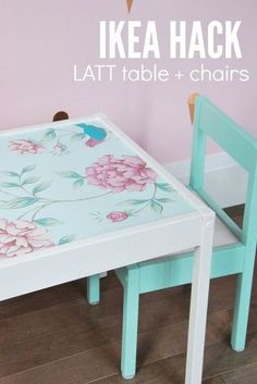 Terrific Absolutely Free IKEA Latt Hack to Make the Cutest Table and Chair Set, ikea latt hack to make th. Thoughts On among my very frequent visits to IKEA I found cheaper missing tables which were an ideal color t Toddler Table And Chairs, Kid Table, Table And Chair Sets, Ikea Toddler Table, Paint Kids Table, Play Table, Toddler Bed, Ikea Latt, Ikea Hacks