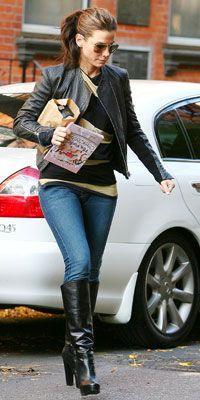 Look of the Day - November 22, 2009 - Sandra Bullock from #InStyle