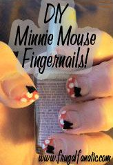 DIY Minnie Mouse Finger nails