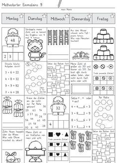 material-intern - Zaubereinmaleins - DesignBlog Math Coloring Worksheets, Geometry Worksheets, Kindergarten Math Worksheets, Grammar Worksheets, Preschool Math, Teaching Math, Preschool Letters, Writing A Thesis Statement, Alphabet Writing Practice