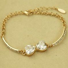 Elegant Crystal Bowknot Women's Fashion Bracelet - USD $27.95