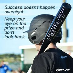 """awesome """"Success doesn't happen overnight. Keep your eye on the prize and don't look back."""" #baseball #softb... Best Quotes Success Check more at http://bestquotes.name/pin/94894/"""