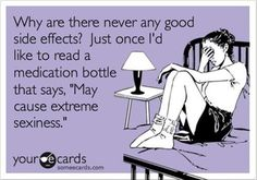Why are there never any good side effects?...  Migraine meds