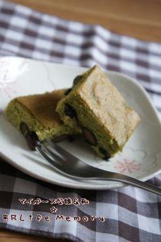「抹茶黒豆のカステラ」あじよし   お菓子・パンのレシピや作り方【corecle*コレクル】