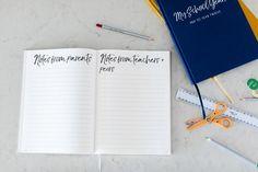 School Memory Book, School Scrapbook,  School #booksandzines #journal @EtsyMktgTool #schoolmemorybook #schoolscrapbook #schoolphotoalbum Notes To Parents, Tiny Stories, Memory Journal, School Scrapbook, Starting School, School Memories, New Mums, School Photos, Memory Books