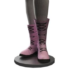 Candy Pink Laced Boots