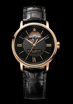 Baume & Mercier Watch  Classima Executives Or made of Red Gold - Black dial - Open Balance for Men - Collection Classima  Reference : M0A08789