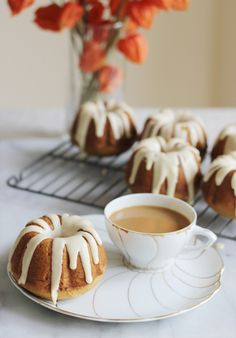 Mini PSL bundt cakes: http://www.stylemepretty.com/living/2015/09/21/35-pumpkin-recipes-full-of-sugar-spice-everything-nice/