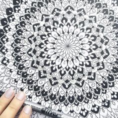 Love this one I did some months back! It's on A3 so much bigger than the ones I usually do 😃🖤 #wip #art #blackandwhite #black #white #artwork #instaart #iblackwork #mandala #mandalaart #zentangle #doodle #unipin #drawing #illustration #artist #pen #mandalas #mandalala #heymandalas #beautiful_mandala #mandalamaze #coloring_masterpieces #design #doodleart #details #zen_dala #mandala_sharing #zenart #blxckmandalas Doodle Patterns, Zen Art, Mandala Art, Doodle Art, Wall Design, Insta Art, A3, Zentangle, Coloring