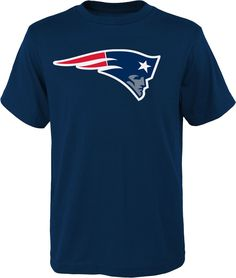 65132a991 Team Apparel Youth New England Logo Navy T-Shirt