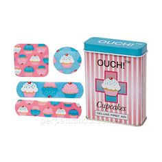 OUCH! CUPCAKES BANDAGES ($4.49) ❤ liked on Polyvore featuring fillers, accessories, baby, stuff and toys