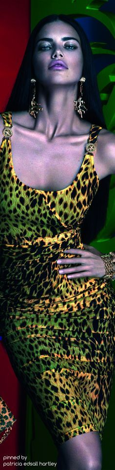 Adriana Lima by Mert - Marcus Piggott for Versace - Summer 2014