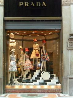 Prada -- Milan. The monochrome steps & colours work so well in this window - they fill the whole space.