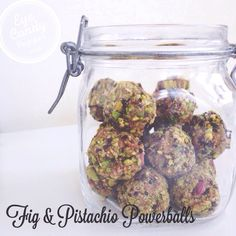 Fig and pistachio powerballs/Bliss balls (raw, vegan, gluten-free, paleo, sugar-free) – Eyecandypopper Healthy Recipes, Clean Eating Recipes, Raw Food Recipes, Cooking Recipes, Paleo Dessert, Healthy Sweets, Healthy Snacks, Healthy Eating, 100 Calories