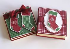 Deb's Card Buffet: Stitched Stockings Post It Pads Christmas Post, Christmas Paper, Christmas Crafts, Christmas Stockings, Post It Pad, Post It Note Holders, Karten Diy, Craft Show Ideas, Craft Sale