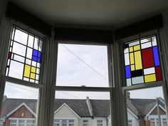 Mondrian stained glass by nick_blackburn, via Flickr