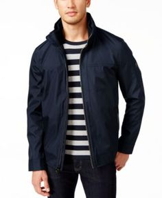 CALVIN KLEIN Calvin Klein Mens' Big & Tall Water-Resistant Windbreaker. #calvinklein #cloth # coats