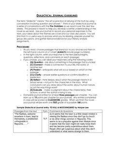 dialectical journals for great expectations Pertinent quotes from great expectations helpful for writing essays, studying or  teaching great expectations.