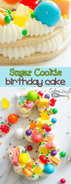 Sugar Cookie Birthday Cake