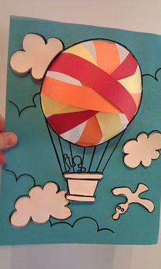 Hot air balloon or flight program