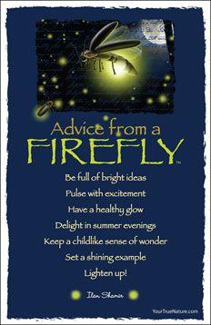 Advice from a Firefly Frameable Art Postcard
