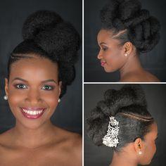 Cheveux crépus : Spécial coiffures de mariage