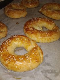 Greek Recipes, Bagel, Food To Make, Buffet, Kitchen Design, Bread, Cooking, Heaven, Kitchen