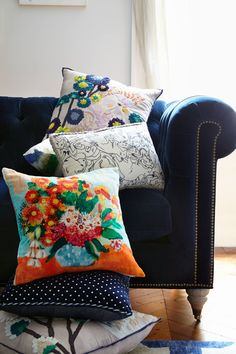 #Embroidered #Cockatoo #Pillow #Anthropologie