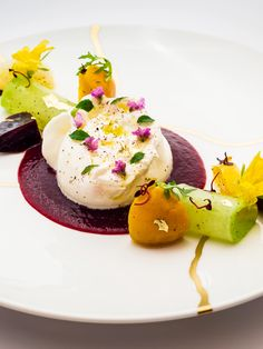 Burrata salad with beetroot and radishes by Xavier Boyer