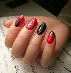 Ready to upgrade your go-to red nails? You're in the right place because we're sharing 50 gorgeous red nail designs for epic nail style. Cute Red Nails, Gorgeous Nails, Love Nails, Pretty Nails, Red Nail Art, Red Nail Polish, Red Nail Designs, Beautiful Nail Designs, Latest Nail Art