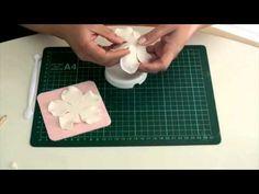 МК цветы из мастики (анемона) - YouTube