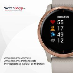Garmin Vivoactive este ceasul de care ai nevoie pentru a duce o viață în armonie cu sportul 🏃♂️Printre multele sale caracteristici enumerăm antrenamentele personalizate și animate pe cadranul ceasului și măsurarea nivelului de hidratare al corpului! Watch Brands, Smartwatch, Pilates, Watches, Cool Stuff, Gold, Wrist Watches, Cool Things, Brand Name Watches
