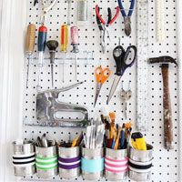 How to organize tools in a craft room or workshop