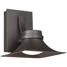 Named after the famous Gamble House in southern California, the Modern Forms Pasadena Outdoor LED Wall Sconce exhibits West coast arts and crafts styling. Inspired by the forms of the bungalow architecture, the sloping shade lights the space with energy efficient LEDs, and also prevents light pollution of the night sky.