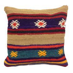 Handmade Turkish Kilim Pillow Cushion Cover (approx 16  x 16 ) - code 56b