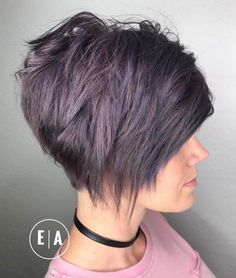 Edgy Purple Tinted Pixie