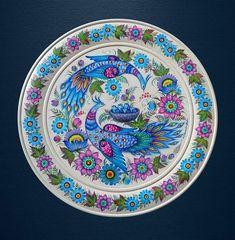 Plate Wall Decor, Plates On Wall, Peacock Art, Traditional Art, Decorative Plates, Folk, Carving, Pottery, Ceramics
