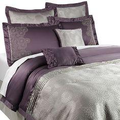 De Bois Comforter Set nice for master makeover Home Bedroom, Master Bedroom, Bedroom Decor, Bedding Decor, Purple Bedrooms, Bedroom Colors, Kohls Bedding Sets, Purple Comforter, Grey Bedding