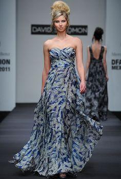 hermoso vestido de David Salomon