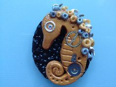Steampunk Seahorse Pendant with Silver Chain by ConstantMindJewelry, $13.99
