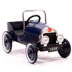 Baghera Pedal Car Blue Classic Ride-On Vehicle for kids on kidsplayhome.com
