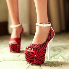 Fabulous Red Suede Peep Toe Stiletto Super High heels.